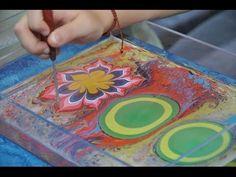 Акварисование! рисунки на воде. эбру | aqua painting! — Яндекс.Видео