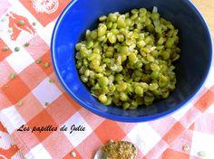Salade fraîche de pois cassés| lespapillesdejulie.com