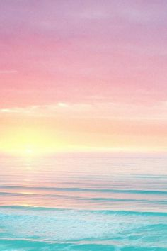 Pastel sea and sky
