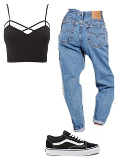 """Untitled #183"" by alessiacaravetta on Polyvore featuring Charlotte Russe, Vans and plus size clothing"