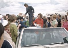 Bobby & Ethel Kennedy greeting supporters during the US presidential campaign during the May Oregon  Primary in 1968. Photo Credit: © Clyde Keller/courtesy HBO