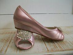 Wedge Shoe Wedding Shoes 1 Inch Wedge Wedding Shoe by Parisxox ($164)