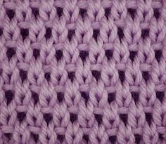 Knitting Galore: Saturday Stitch: Eyelet Moss Stitch.