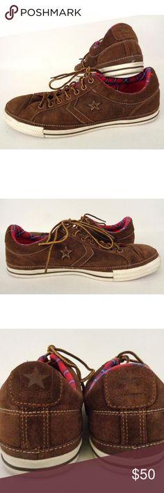 Converse Star Player Sz 12 Mens Low Suede Shoes • Converse