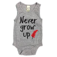 NEVER GROW UP onesie romper for baby Disney Peter Pan By Posh Little Peanut