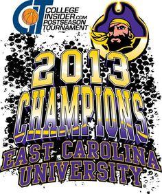ECU Pirate Basketball CIT Champions 2013 T-shirts. UBE