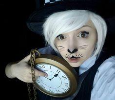 DIY Alice in Wonderland White Rabbit March Hare Halloween Costume Idea