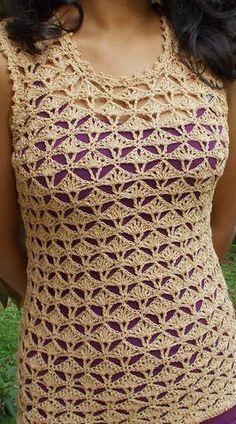Delicadezas en crochet Gabriela: Túnica punto fantasía en crochet