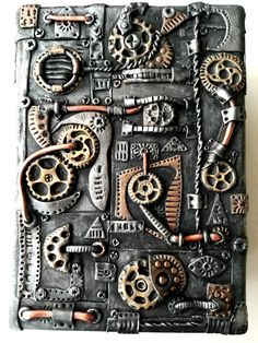 Steampunk Polymer Clay Box by SuSaBe