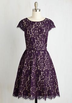 Special Occasion - Left in a Spin Dress in Purple