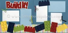 Build It Scrapbook Page Kit - Click Image to Close Baby Boy Scrapbook, Disney Scrapbook Pages, Birthday Scrapbook, Scrapbook Templates, Scrapbook Sketches, Scrapbook Page Layouts, Travel Scrapbook, Card Sketches, Scrapbook Albums