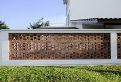 Image 2 of 32 from gallery of Pitch House / Atelier M+A. Photograph by Masaki Harimoto Brick Design, Fence Design, Facade Design, House Design, House Cladding, Facade House, Brick Architecture, Architecture Details, Breeze Block Wall