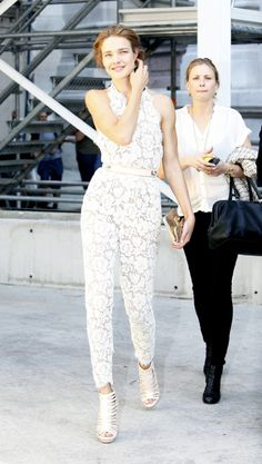 Celebrities arriving at Stella McCartney ready to wear spring summer 2012 fashion show in Paris