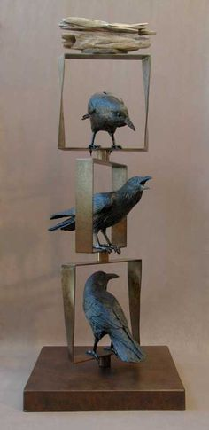 """This is Brilliant!! Love the Movement, the static """"squares"""" and then the lively Crows!! by epplerart"""