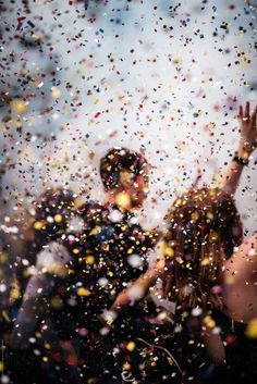people dancing in confetti rain at an event by Chris Zielecki for Stocksy United dancing Instagram Design, Story Instagram, People Dancing, Dancing In The Rain, New Year Photoshoot, Look Man, Glitter Confetti, Confetti Balloons, Nouvel An