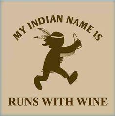 Runs with wine