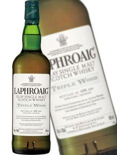 Laphroaig Triple Wood Top Drinks, Scotch, Whisky, Shampoo, Canning, Bottle, Wood, Plaid, Woodwind Instrument
