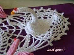 PATOS , CISNES O FLAMINGOS EN CROCHET.. PARA LA CARPETA - YouTube