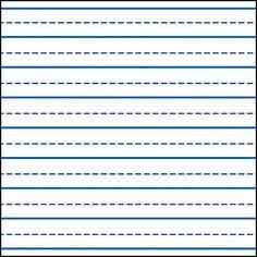 kindergarten paper template