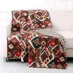 Quilt - Folk Festival (Rustic) Throw Blanket
