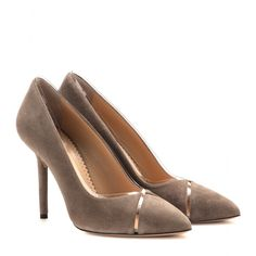 Charlotte Olympia - Natalie suede pumps