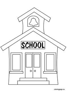 School building coloring page, classes coloring page for ...  School building...