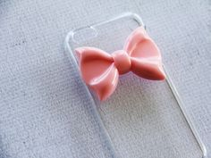 Cute Case iPhone 5c Simple iPhone 5c Phone Case Pink by CaseCavern but do you think these bows can come off because it seems that they would