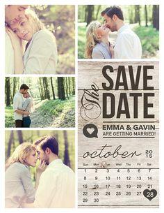 Save The Date Magnet Card or Postcard . Modern von MidwestDesign