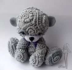 Cute Spiralling Teddy