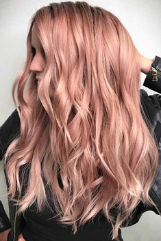 Trendy Hair Color : Some Useful Tips Waves ? A rose gold hair color is often spotted. Salon Hair Color, Ombre Hair Color, Blonde Color, Cool Hair Color, Hair Colour, Brunette Color, Spring Hairstyles, Cool Hairstyles, Hairstyles Haircuts