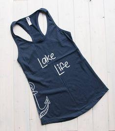 Items similar to Lake Life Tank Funny Shirts Women, Funny Tank Tops, Lake Life, Cut Shirts, Athletic Tank Tops, Shirt Designs, Shirt Ideas, Boating, My Style