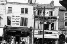 Freeman's drapery and hardware shop on the Spot in 1957 Peak District, Derbyshire, Ruin, Drapery, Nostalgia, England, Hardware, Memories, Spaces