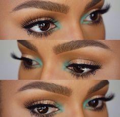Super Makeup Looks Dark Skin Black Women Brows 22 Ideas Flawless Makeup, Gorgeous Makeup, Pretty Makeup, Love Makeup, Skin Makeup, Green Makeup, Contour Makeup, Contouring, Eyeshadow Makeup