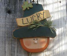 St. Patrick's Day Decor-Lucky Leprechaun With Shamrock#st patricks day craft