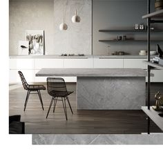 The best kitchen design ideas for your home in This expert trends round up reveals the latest modern kitchen ideas and contemporary kitchen trends from storage to two-tone kitchens. Contemporary Kitchen Plans, Modern Kitchen Design, Interior Design Kitchen, Modern Kitchens, Kitchen Linens, Kitchen Chairs, Kitchen Furniture, Furniture Stores, Industrial Furniture