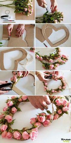 cardboard crafts to sell bikin bunga Diy Crafts Hacks, Diy Home Crafts, Diy Arts And Crafts, Crafts For Kids, Diy Para A Casa, Creation Deco, Deco Floral, Floral Arch, Cardboard Crafts