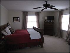 Before and After pictures of my master bedroom.