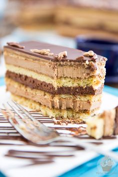 While making Opera Cake from scratch will have you spend a hefty chunk of time in the kitchen, I swear it's so decadent, it's totally worth the effort. Fancy Desserts, Just Desserts, Summer Desserts, Opera Cake, Coffee Buttercream, Cake Recipes, Dessert Recipes, Star Cakes, Decadent Cakes
