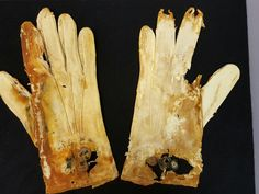 A pair of gloves found in a suitcase near the Titanic.