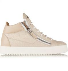 Giuseppe Zanotti - Croc-effect leather high-top sneakers - Giuseppe Zanotti s…