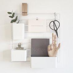 Wohngoldstück_Home Office Scandi String Organizer Diy Interior, Modern Interior, Interior Styling, Interior Decorating, Interior Design, Minimalist Room, Minimalist Interior, Desk Inspiration, Interior Inspiration