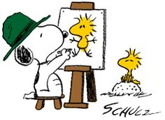 Image result for snoopy painter
