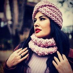 Laconic hats - a turban from a gentle knitted volume cloth. Suitable for any type of face. Adapted to a large number of styles in clothes. Turban, Knitted Hats, Winter Hats, Number, Type, Clothes, Fashion, Outfits, Moda