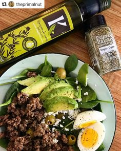 When you want to make Greek inspired food add a dash of our Super Gyro (hero) Seasoning (and a splash of @kasandrinos olive oil helps too!) Thanks for the #primalpalatespices love @theprimalnut  find our spices on our website and Amazon (Link in profile)  Okay I just made the most delicious salad I have made in a very long time. I bought some ground lamb for the first time the other day and through it in the skillet with some @primalpalate Gyro Seasoning. Once it was cooked I through this…