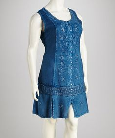 Indigo Sleeveless Dress - Plus #zulily #zulilyfinds