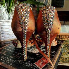 755d6cd3 Lacey Schwimmer stoned Aida dance shoes #ballroomdancing Zapatos De Baile,  Traje De Baile,