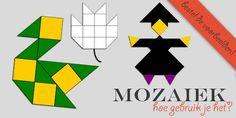 Hoe gebruik je mozaïek bij kleuters? - jufBianca.nl - Klazien Smid - vrij spelen - experimenteren - voorbeeld - differentiëren
