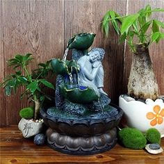 Buddha Fountain Indoor Zen Reclining Buddha Running Water Meditation Relaxation #worldwidemark3tFountain