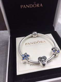 Pandora winter bracelet 3 charms