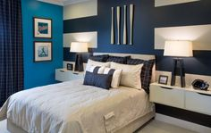 Bedroom : Teenage Boy Bedroom Floating White Nightstands Blue Bedroom Paint  Colors Curtains White Beds Throw